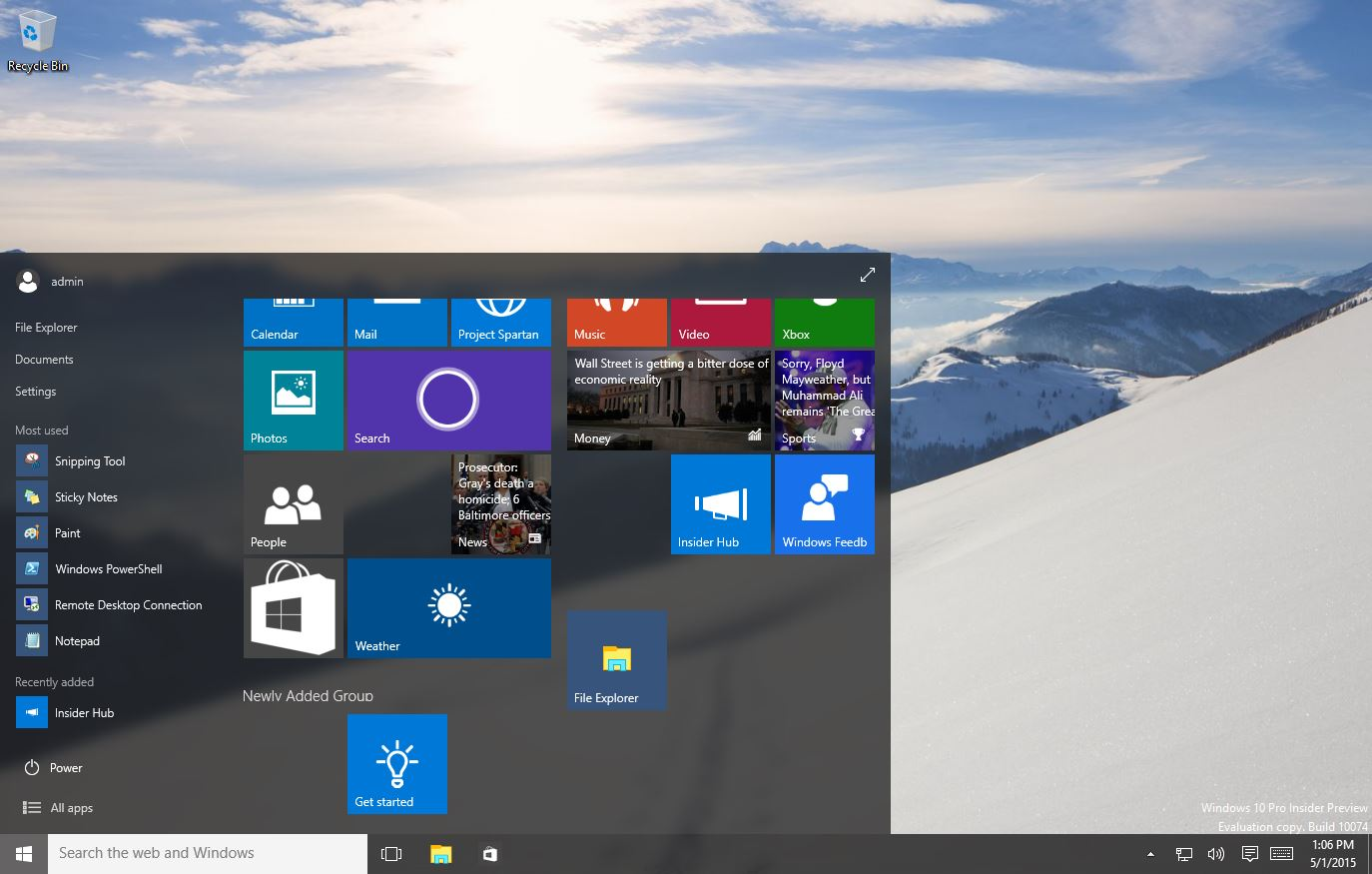 Windows 10 Insider Preview Build 10074 Details and Screenshots